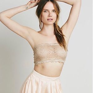 Free People Intimately Nude Lace Seamless Bandeau
